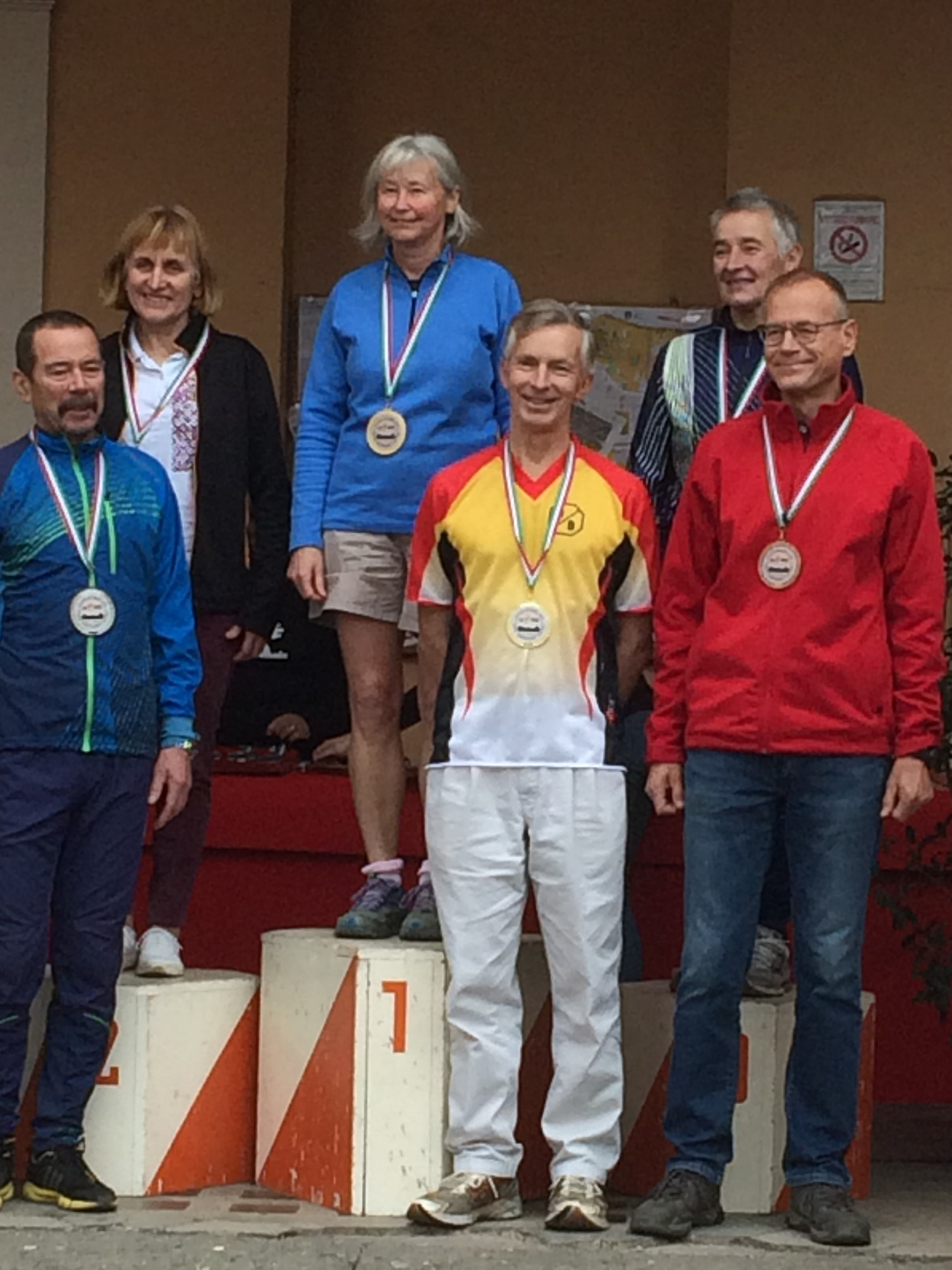 Barry Elkington on the podium in Rome 2017