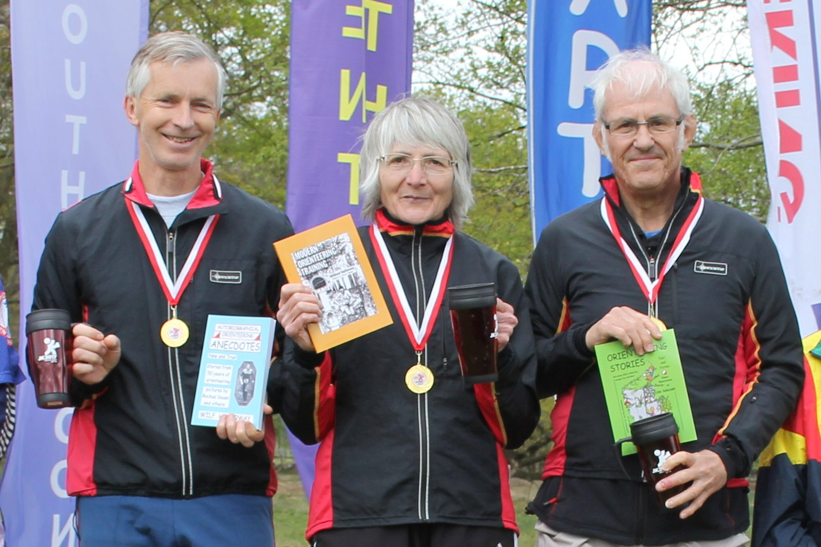 JK 2017 Veteran Relay Winners2c Barry2c Sheila and Mike 170417